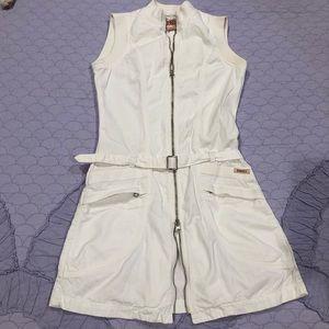 ❤️ GUESS ❤️ VINTAGE WHITE COTTON ZIP UP DRESS